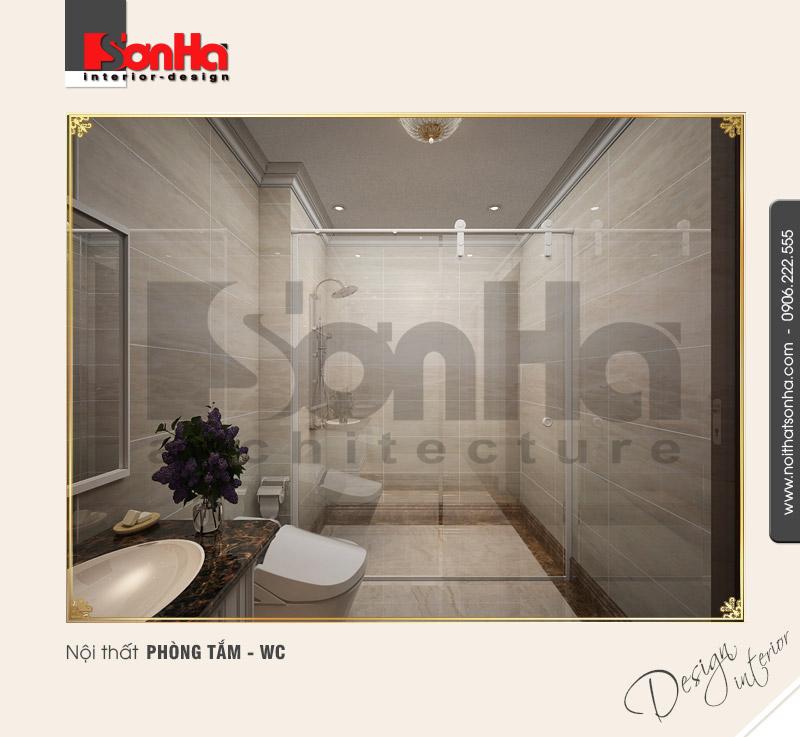 9.Thiết kế nội thất phòng tắm wc cổ điển tại vinhomes hải phòng