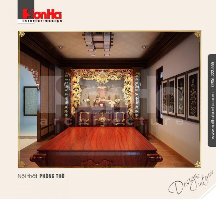 9.Thiết kế nội thất phòng thờ cổ điển tại hải dương NT BTD 0009