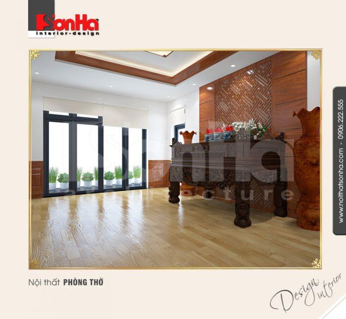 9.Thiết kế nội thất phòng thờ tôn nghiêm tại quảng ninh NT BTD 0034