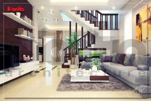 BIA Thi công nội thất biệt thự hiện đại sang  trọng tại Uông Bí Quảng Ninh NT BTD 0019