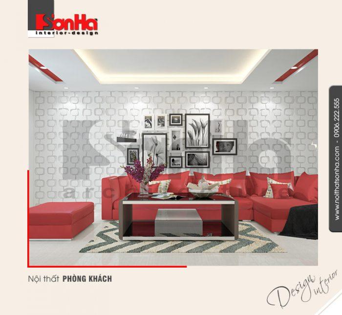 1.Nội thất phòng khách nhà ống 6 tầng tiện nghi tại quảng ninh NT NOD 0124