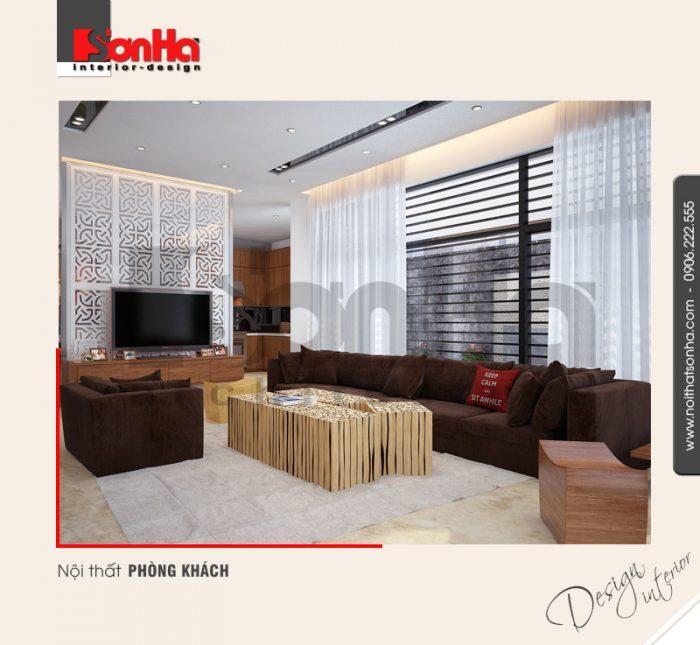 1.Thiết kế nội thất phòng khách biệt thự hiện đại tại hải phòng NT BTD 0036