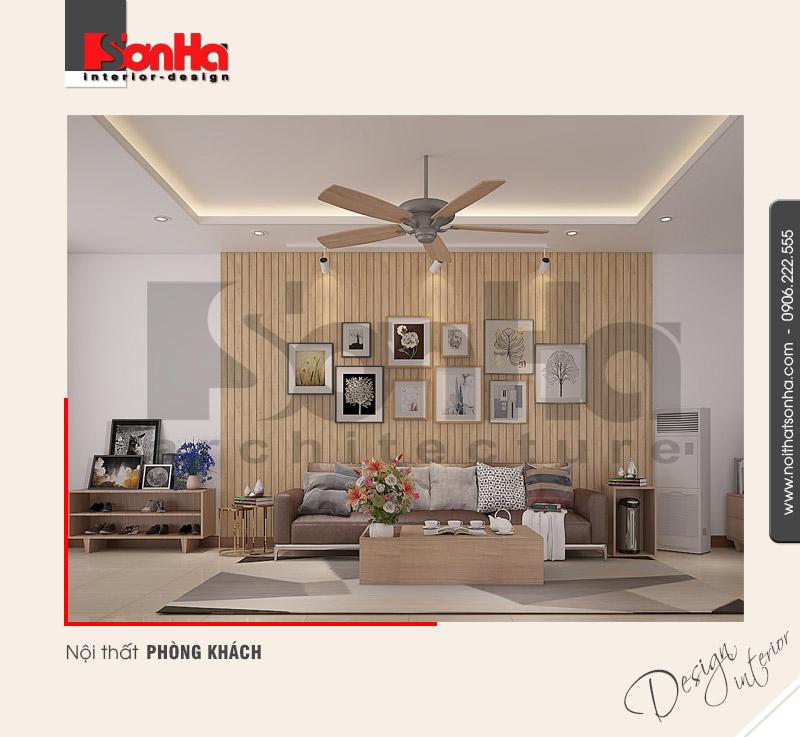 1.Thiết kế nội thất phòng khách đơn giản cá tính đẹp