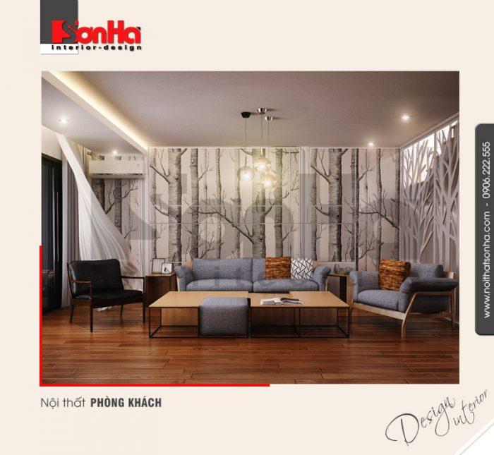 1.Thiết kế nội thất phòng khách hiện đại đẹp