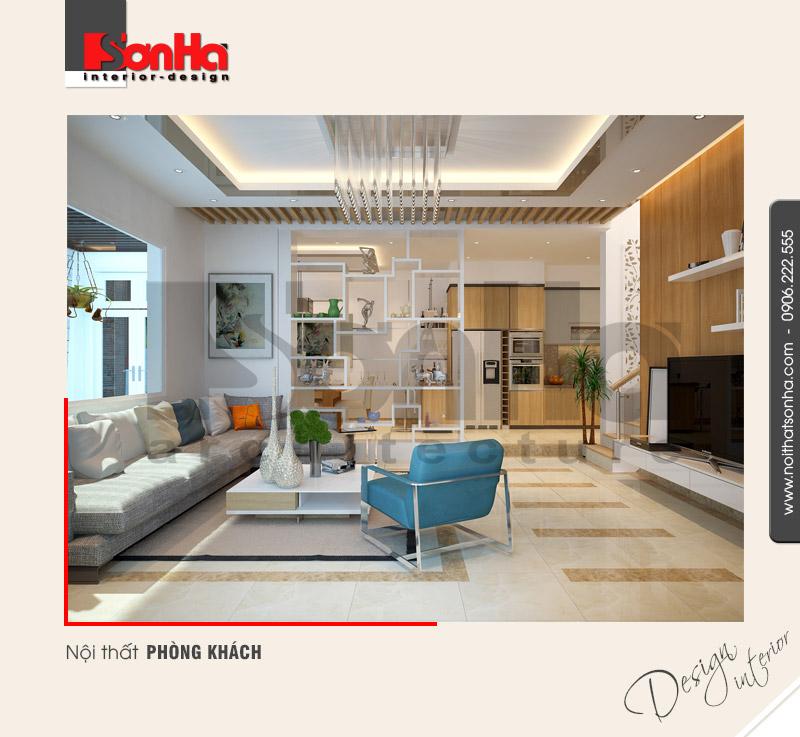 1.Thiết kế nội thất phòng khách hiện đại đẹp tại hải phòng NT BTD 0041