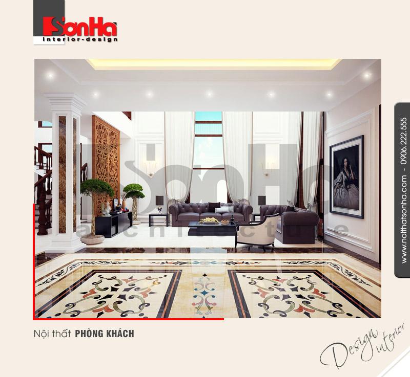 1.Thiết kế nội thất phòng khách hiện đại đơn giản