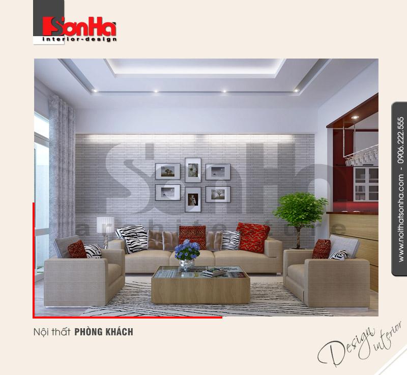 1.Thiết kế nội thất phòng khách hiện đại lịch thiệp tại hải phòng NT NOD 0122