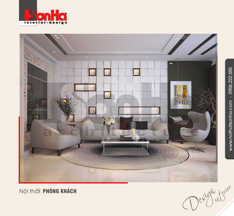 1.Thiết kế nội thất phòng khách hiện đại sang trong tại sài gòn NT NOD 0131