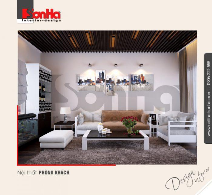 1.Thiết kế nội thất phòng khách nhà ống đẹp sang trọng NT NOD 0132