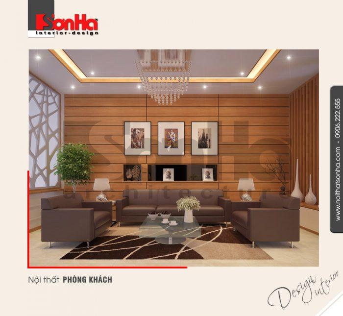 1.Thiết kế nội thất phòng khách nhà ống hiện đại 3 tầng tại hải phòng NT NOD 0127