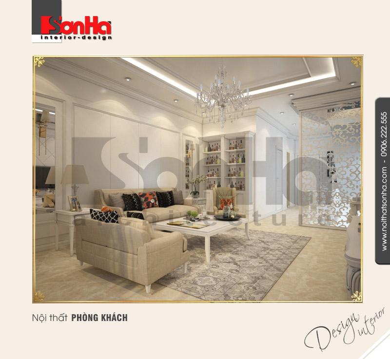1.Thiết kế nội thất phòng khách nhà phố đẹp sang trọng