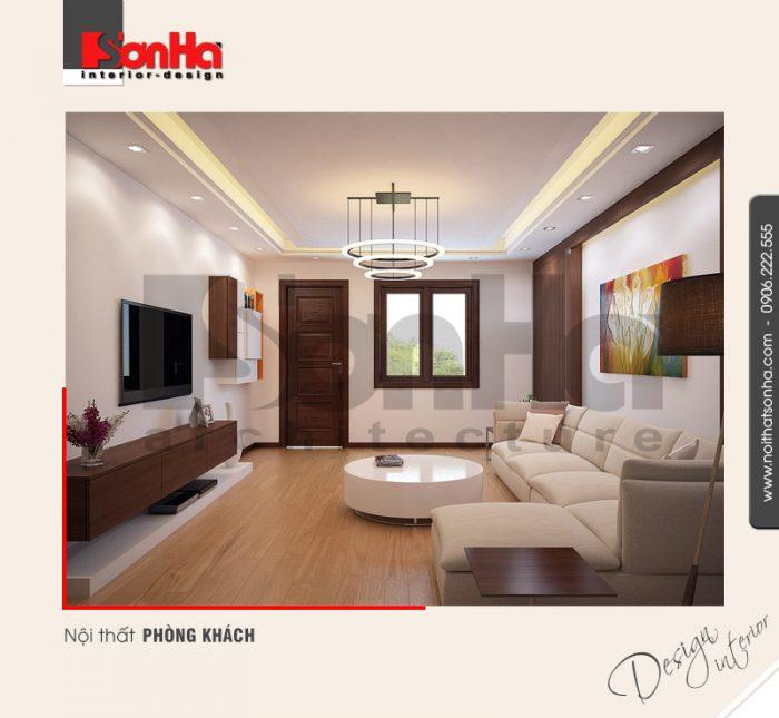1.Thiết kế nội thất phòng khách nhà phố hiện đại đơn giản tại hải phòng NT NOD 0116