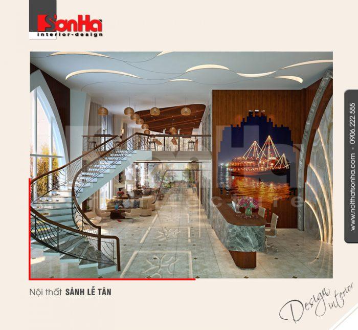 1.Thiết kế nội thất sảnh lễ tân khách sạn 5 sao