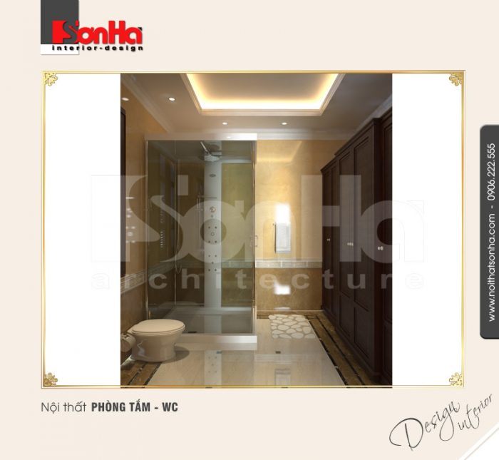 10.Mẫu nội thất phòng tắm wc bố trí hợp lý
