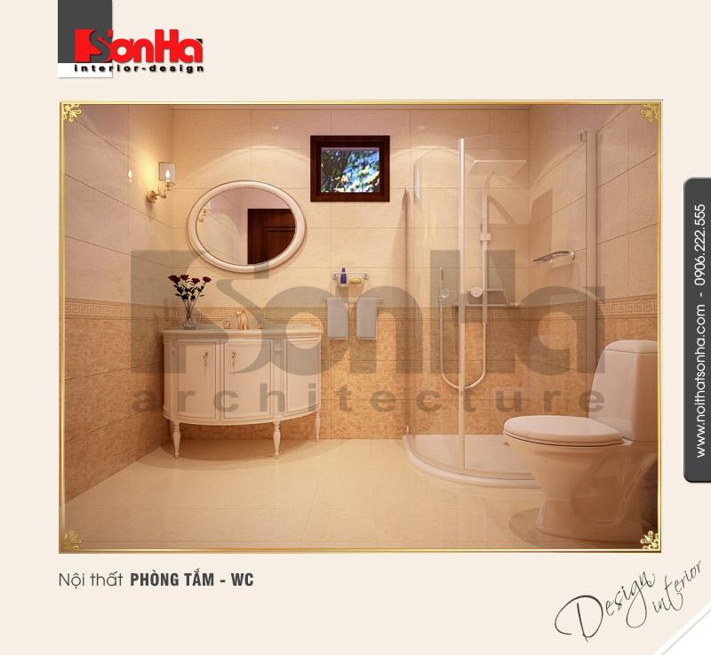 10.Mẫu nội thất phòng tắm wc sang trọng