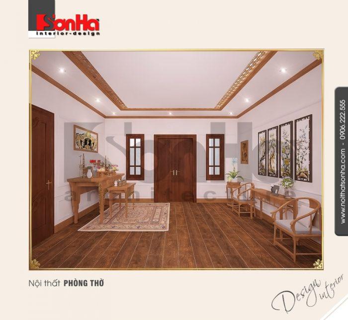 10.Mẫu nội thất phòng thờ đẹp