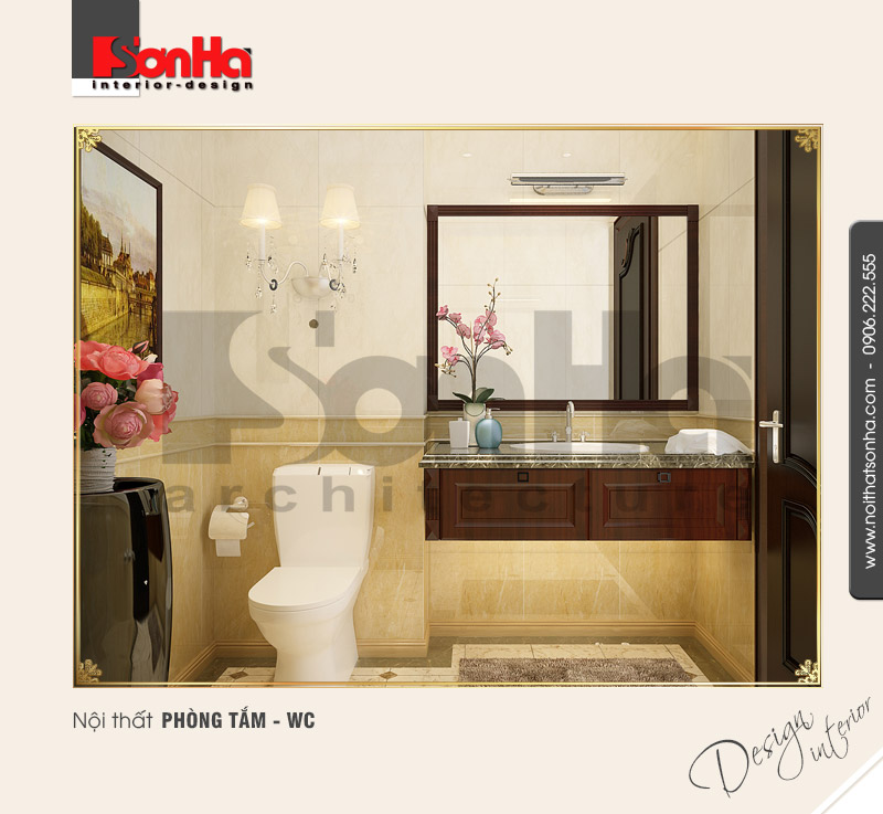11.Thiết kế nội thất phòng tắm wc đơn giản