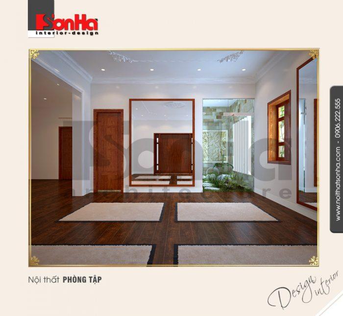 11.Thiết kế nội thất phòng tập đơn giản
