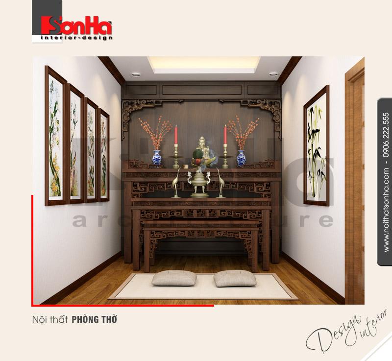 11.Thiết kế nội thất phòng thờ đẹp