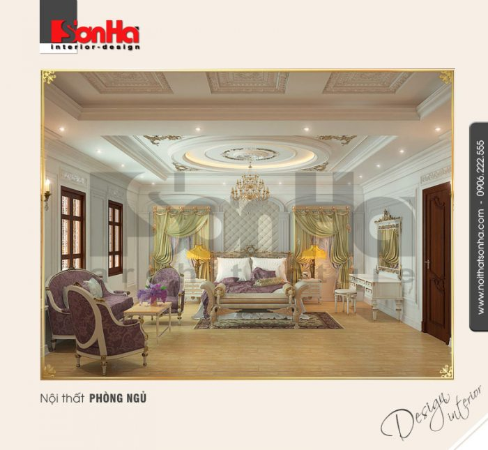 13.Thiết kế nội thất phòng ngủ trang trọng