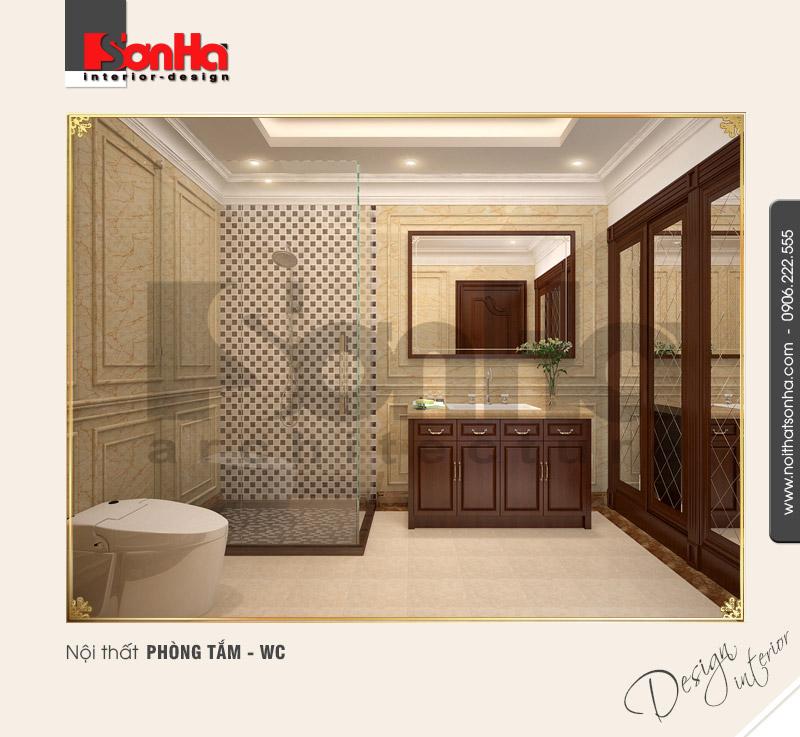 13.Thiết kế nội thất phòng tắm wc bố trí hợp lý