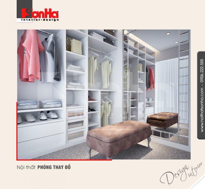 13.Thiết kế nội thất phòng thay đồ bố trí hợp lý