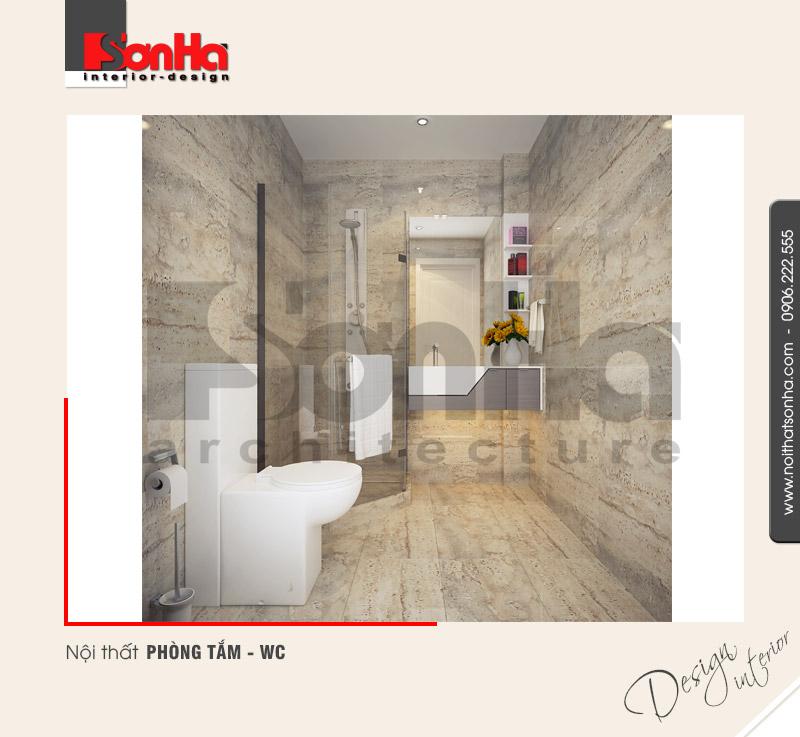14.Mẫu nội thất phòng tắm wc tiện nghi của nhà phố tại sài gòn NT NOD 0131
