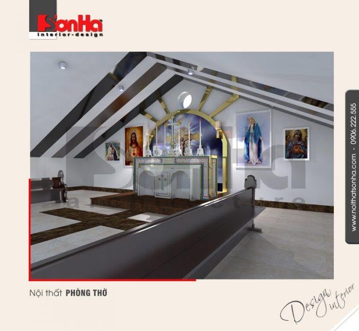 15.Thiết kế nội thất phòng thờ tinh tế