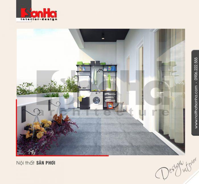 15.Thiết kế nội thất sân phơi bố trí hợp lý tiện lợi