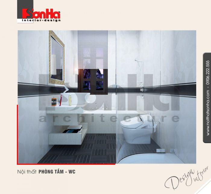 17.Thiết kế nội thất phòng tắm wc bố trí hợp lý