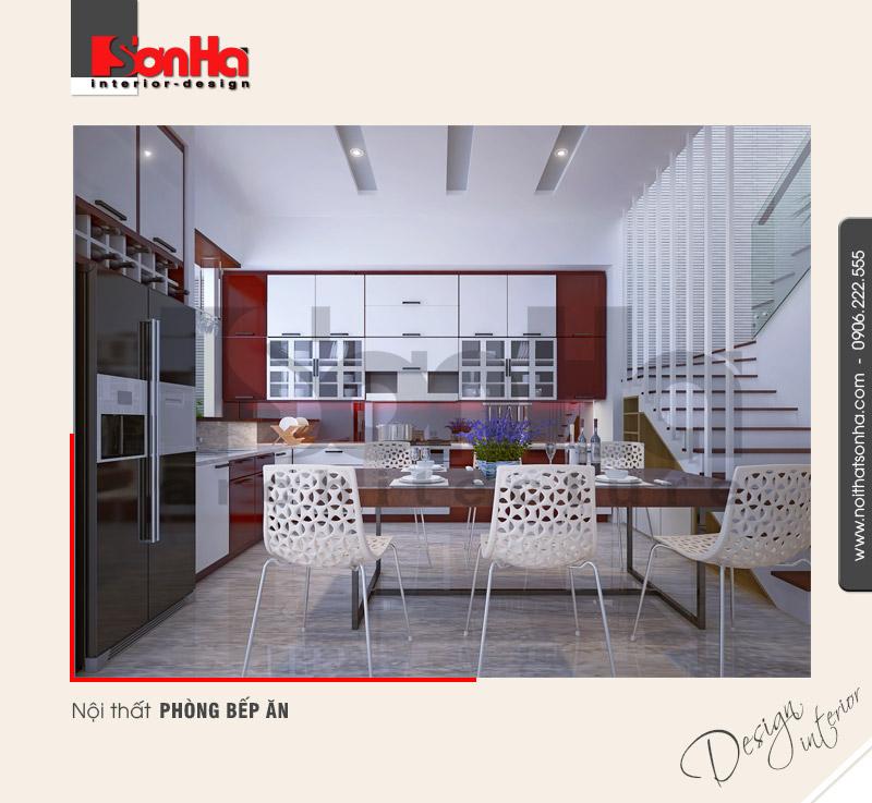 2.Mẫu nội thất phòng bếp ăn ấm cúng dành cho nhà phố tại hải phòng NT NOD 0122
