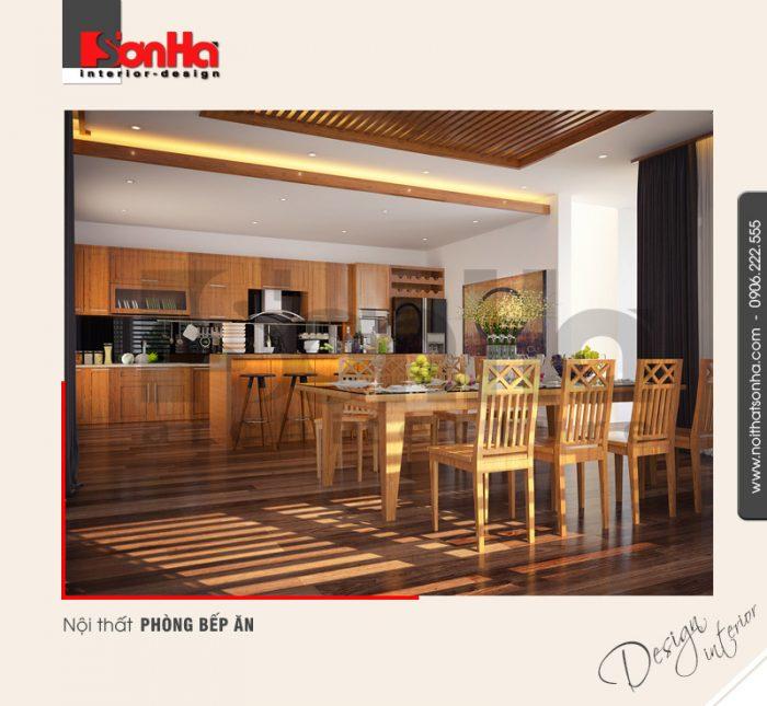 2.Mẫu nội thất phòng bếp ăn dành cho biệt thự hiện đại tại quảng ninh NT BTD 0040