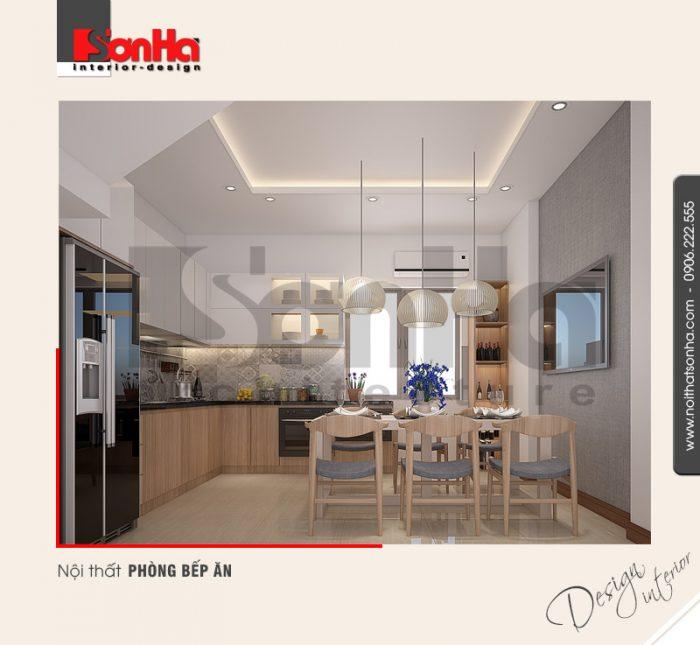 2.Mẫu nội thất phòng bếp ăn đẹp danh cho nhà phố
