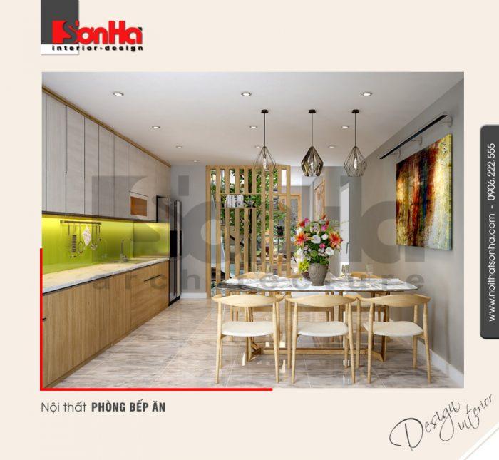 2.Mẫu nội thất phòng bếp ăn đẹp tiện dụng