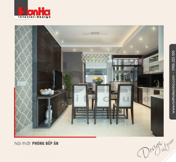 2.Mẫu nội thất phòng bếp ăn hiện đại đẹp NT NOD 0132