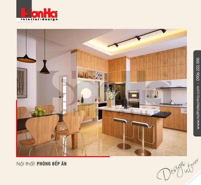 2.Mẫu nội thất phòng bếp ăn hiện đại tiện dụng
