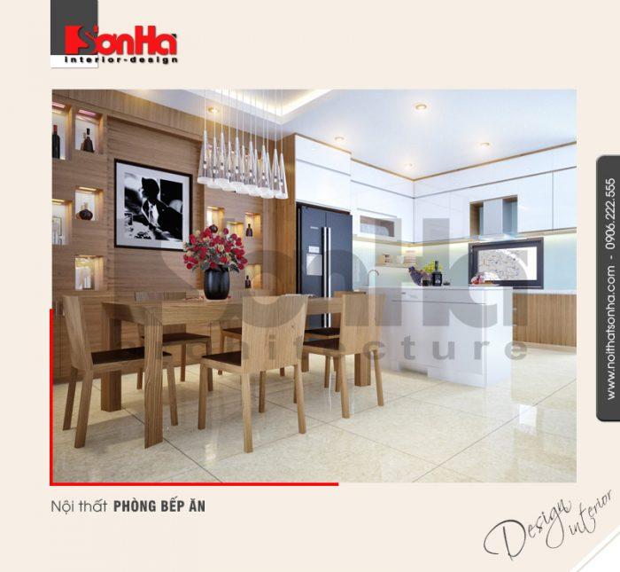 2.Mẫu nội thất phòng bếp ăn hiện đại và tiện nghi tại quảng ninh NT NOD 0120