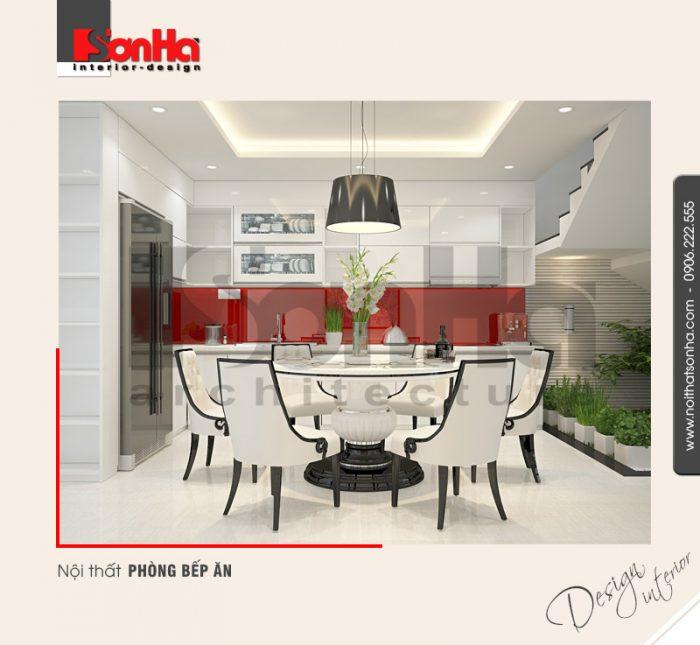 2.Mẫu nội thất phòng bếp ăn nhà ống hiện đại tại quảng ninh NT NOD 0124