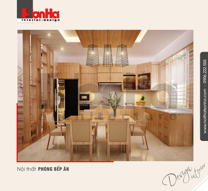 2.Mẫu nội thất phòng bếp ăn sang trọng