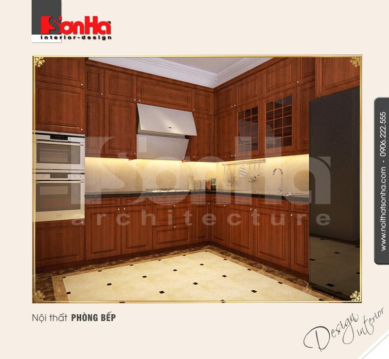 2.Mẫu nội thất phòng bếp bố trí đơn giản