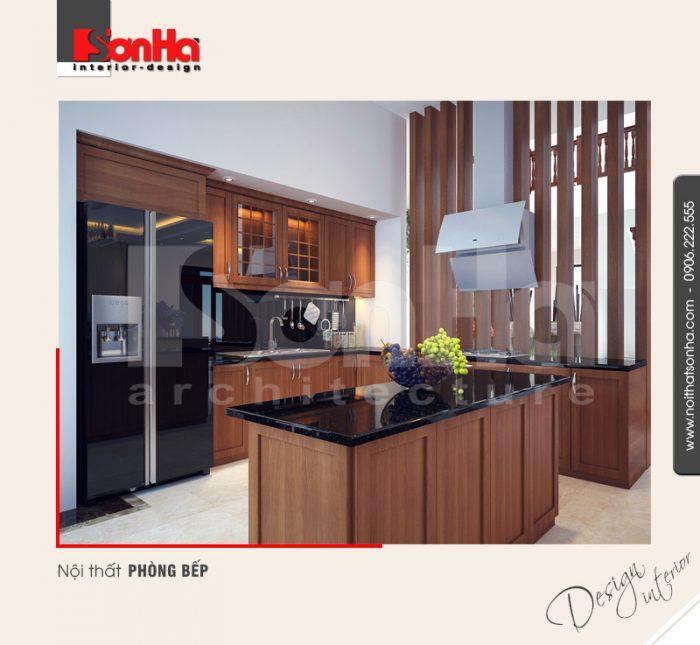 2.Mẫu nội thất phòng bếp sang trọng