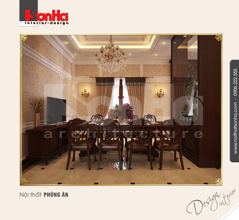 3.Thiết kế nội thất phòng ăn tân cổ điển cao cấp