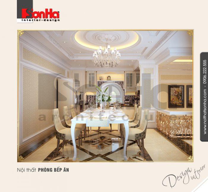 3.Thiết kế nội thất phòng bếp ăn biệt thự trang nhã