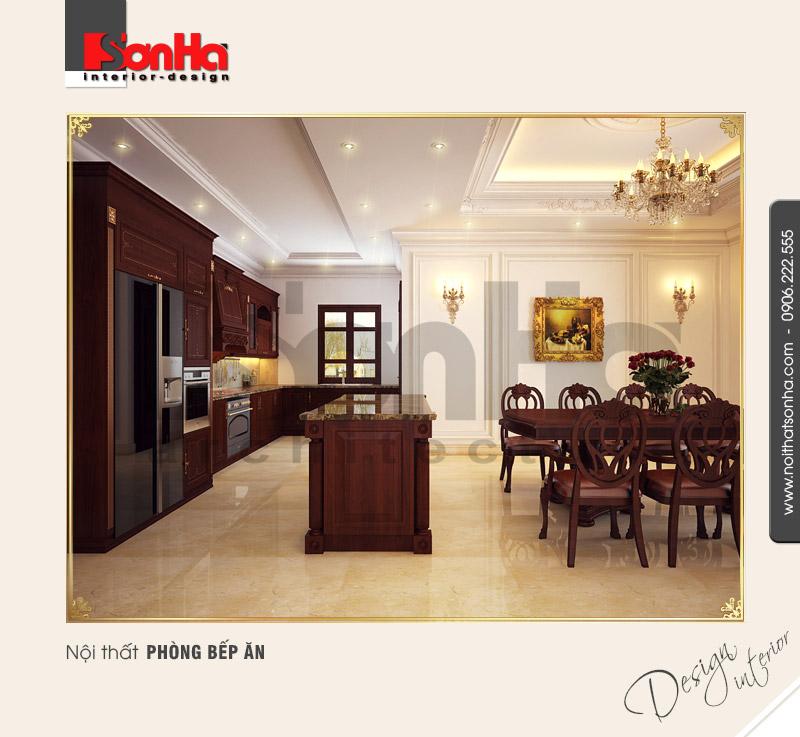 3.Thiết kế nội thất phòng bếp ăn bố trí hợp lý