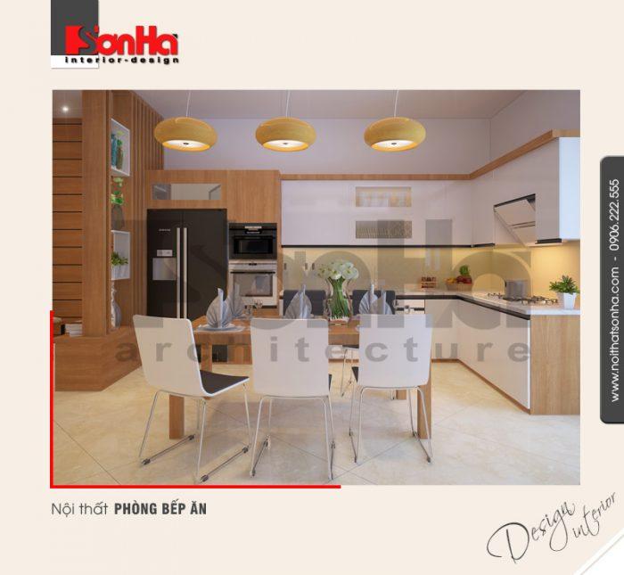 3.Thiết kế nội thất phòng bếp ăn dành cho nhà ống hiện đại tại hải phòng NT NOD 0127