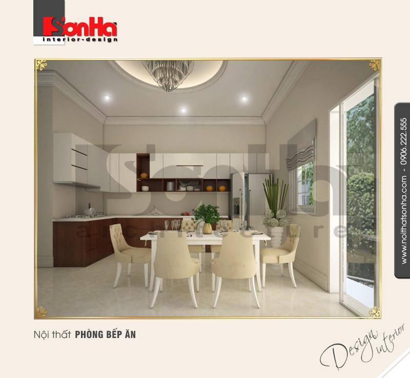 3.Thiết kế nội thất phòng bếp ăn đẹp tiện dụng