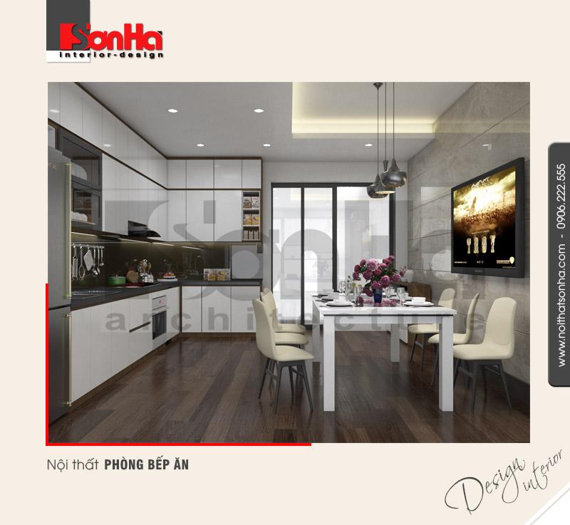 3.Thiết kế nội thất phòng bếp ăn đẹp tiện nghi