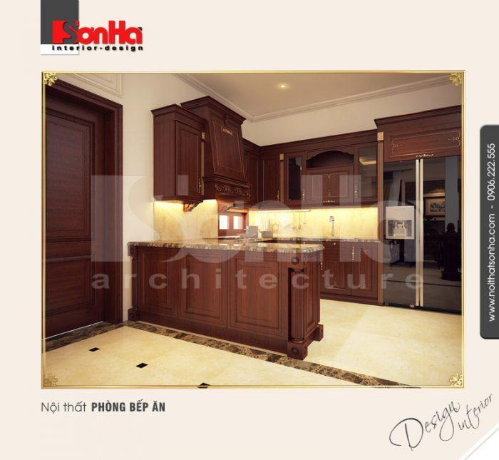 3.Thiết kế nội thất phòng bếp ăn tân cổ điển