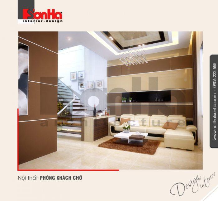 3.Thiết kế nội thất phòng khách chờ đơn giản
