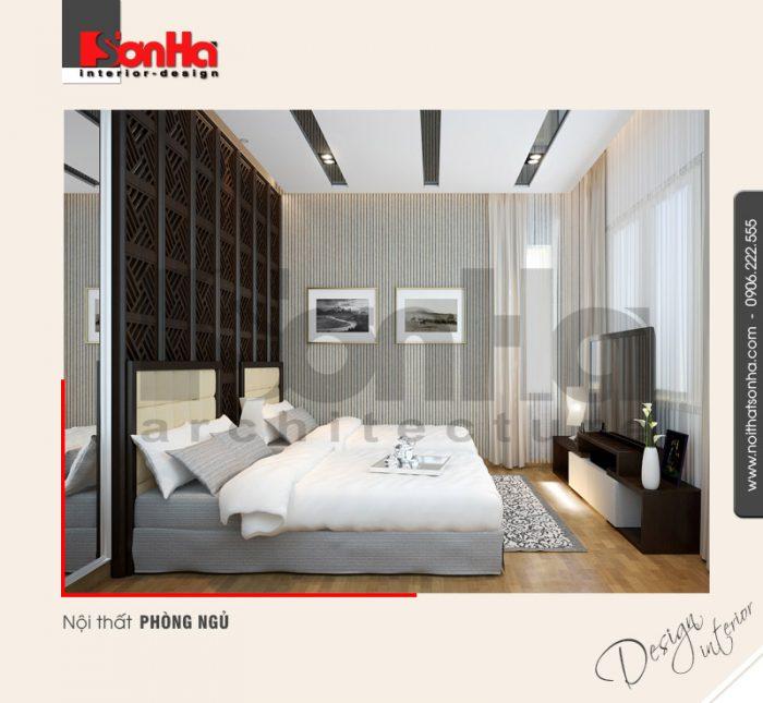 3.Thiết kế nội thất phòng ngủ đẹp tiện nghi dành cho nhà phố tại hải phòng NT NOD 0122